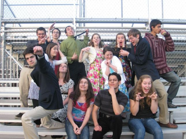 The prayer group photo shoot at the end of the first year.